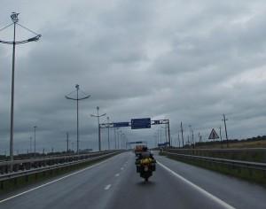 Im Regen nach Kaliningrad