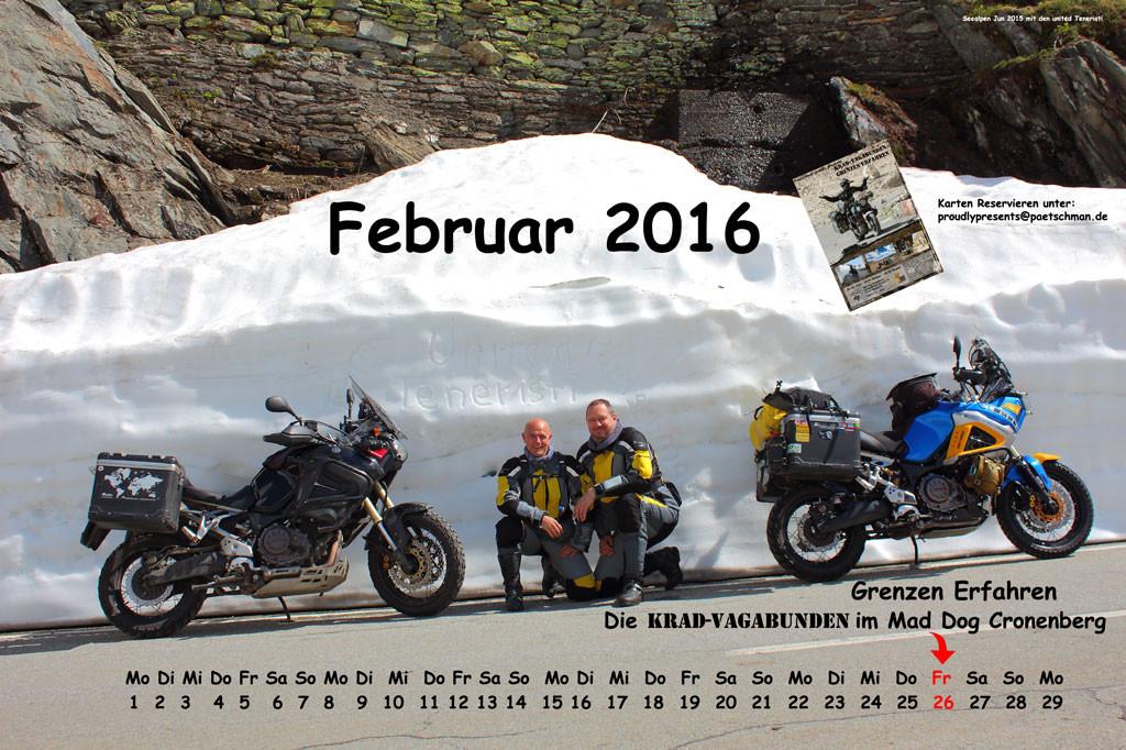 Kalenderblatt-Februar 2016