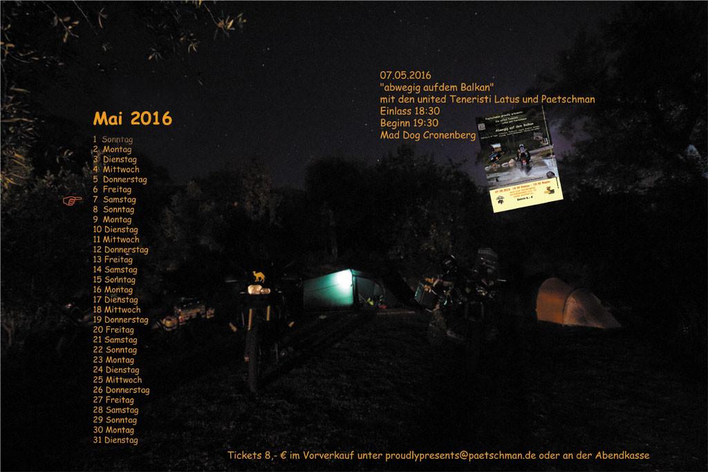 07.05.2016 Mad Dog Cronenberg 18:30 Einlass 19:30 Beginn Ticket 8,-