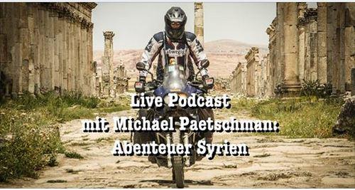 Live Podcast des Pegasoreise Teams mit Paetschman. Meine Syrienreise steht auf dem Programm